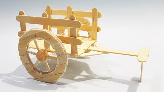 Make Charkha using Ice cream stick at Home (DIY) Videos