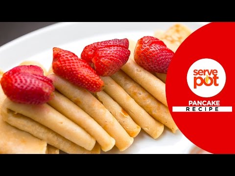 How To Make Pancake with Strawberry