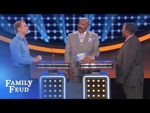 Shower UP! | Celebrity Family Feud | OUTTAKE