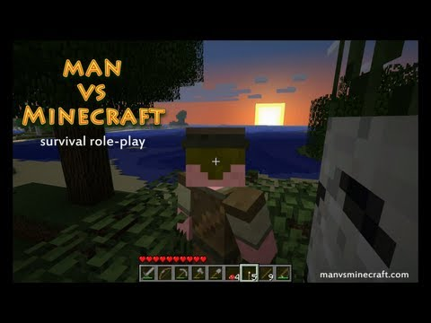 Man vs Minecraft - [S3] Day 1