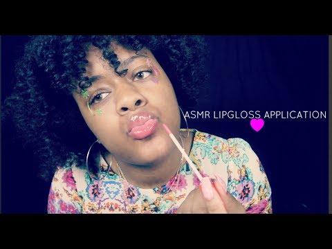 ASMR Lipgloss Application | Mouth Sounds, Lip Smacking ~