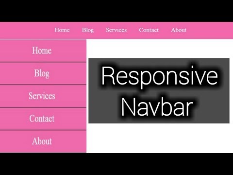 Responsive Navigation Bar with HTML and CSS