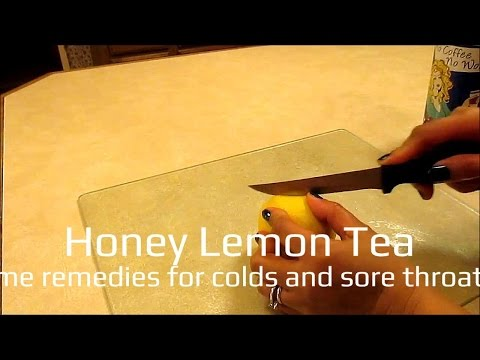 honey lemon tea (home remedies for colds and sore throats)