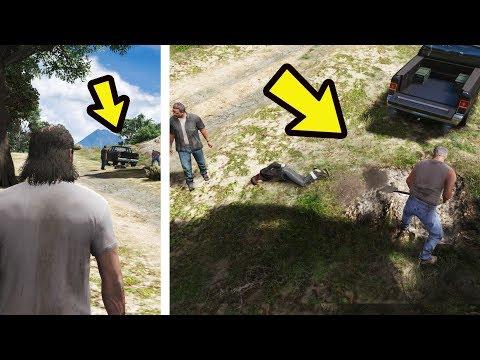 O que acontece se não ajudar a Mulher que esta sendo enterrada?  GTA 5