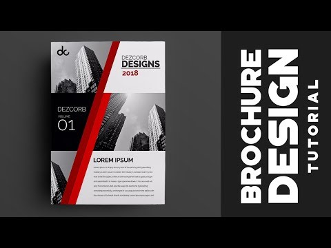 How to design brochure in photoshop cs6 |  Red Professional Corporate Brochure