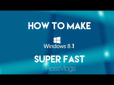 How To Make Windows 7/8/8.1 &  10 Super Fast. (SAME PROCESS)