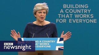 Theresa May's 'extraordinary' conference speech - BBC Newsnight