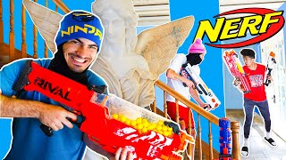 NERF WARZONE in $5 MILLION MANSION (Real Life)!!
