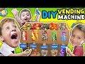 DIY Cardboard Dispenser Vending Machine FUNnel Vlog Fam