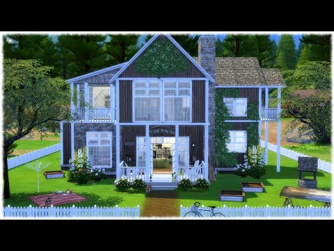 The Sims 4: Speed Build // THE LAKE HOUSE // + CC LINKS!