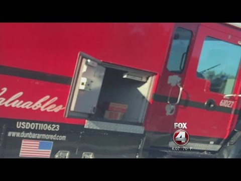 Armored truck spills money in Fort Myers Florida