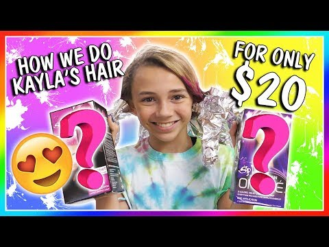 HOW WE DYE KAYLA'S HAIR FOR $20😀  We Are The Davises