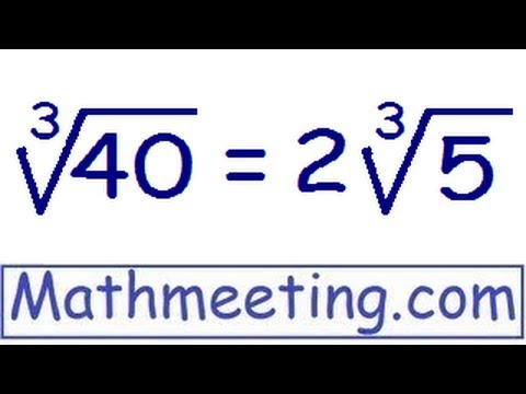 Simplifying cube roots - Perfect cubes and harder examples