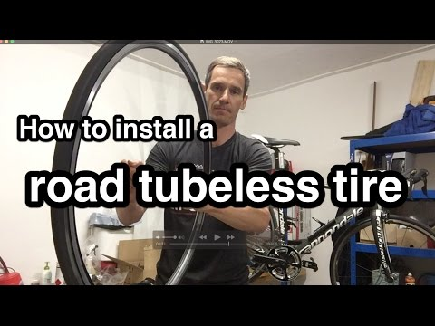 How to install a Schwalbe one road tubeless tire