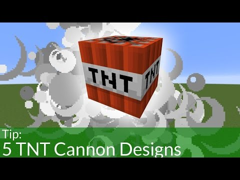 5 Minecraft TNT Cannon Design