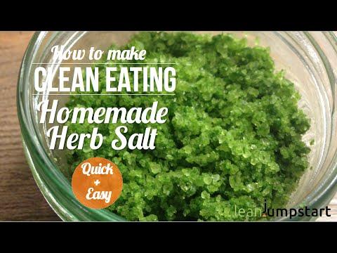 How to make seasoned salt: Homemade Herbal Salt with Fresh Herbs – Clean and Easy