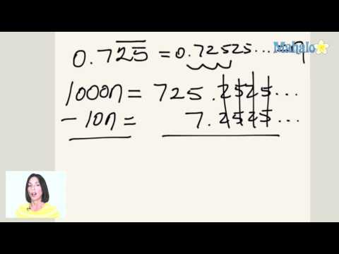 How to Convert Repeating Decimals into Fractions (ex.3)