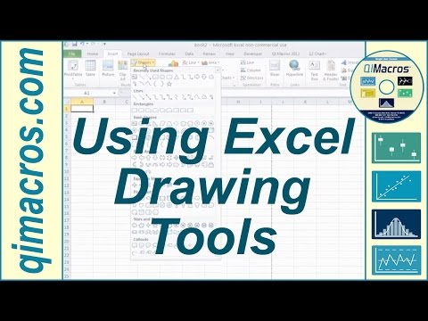 Using Drawing Tools in Excel 2007, 2010 and 2013