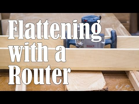 Flattening Boards with a Router Sled