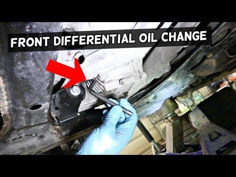 HOW TO DRAIN CHANGE FRONT DIFFERENTIAL OIL FLUID ON PORSCHE CAYENNE, VW TOUAREG, AUDI Q7