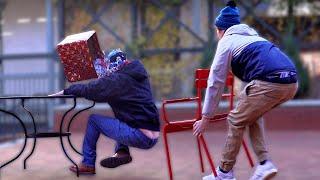 Christmas Chair Pulling Prank