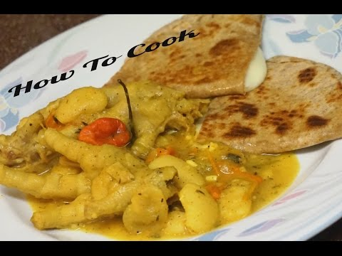 HOW TO COOK JAMAICAN CURRY CHICKEN FOOT AND BUTTER BEAN RECIPE JAMAICAN ACCENT 2016
