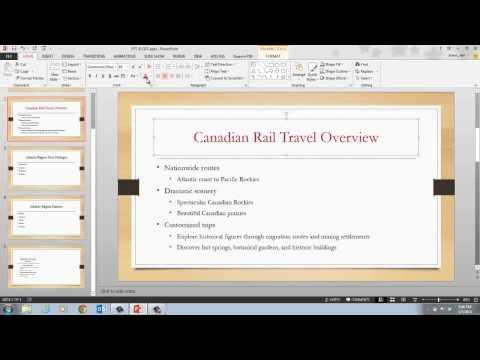 PowerPoint 2013 Unit B Video 2 Format Text