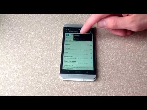 How to remove an email account on a HTC One