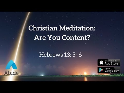 Guided Christian Meditation: Contentment In Christ (15 min)