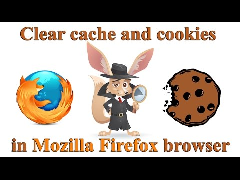 How to clear cache and cookies in Mozilla Firefox browser