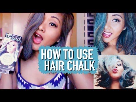 HOW TO USE HAIR CHALK | Rachel Bulosan