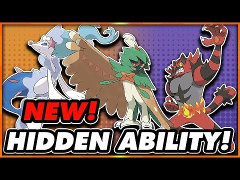 HIDDEN ABILITY STARTERS OUT NOW! How to Get Hidden Ability Decidueye, Incineroar and Primarina!