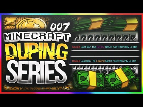 DUPING TONS OF RANKS AND JUNE CRATES | Minecraft DUPING Series #7