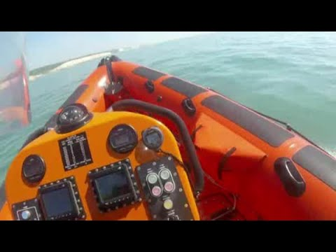 RNLI Brighton rescue family caught out by the tide