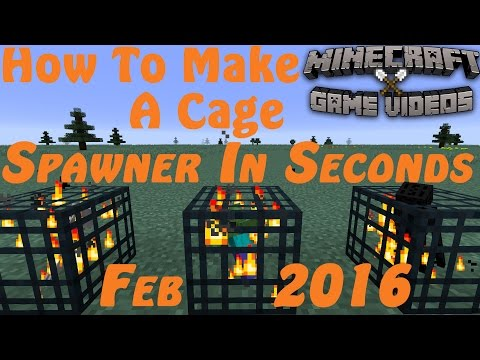 How To Make A Cage Mob spawner in seconds on Minecraft - 2017