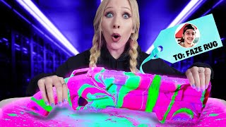 Gifting YouTubers GLOW IN THE DARK Hydro Dipped Items! *insane*