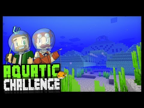 EXPLORING THE SEA!? - Minecraft Aquatic Challenge - #4