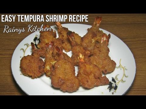 চাইনিজ প্রন টেম্পুরা || How to make perfect crispy prawn tempura || Home made fried shrimp
