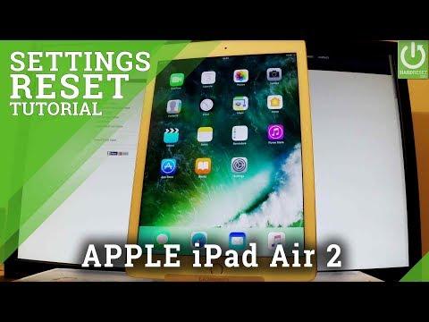 How Reset Settings in APPLE iPad Air 2 - Restore Settings in iPad