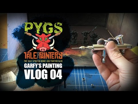 Using an Airbrush and thoroughly cleaning an Airbrush Part 2 VLOG04