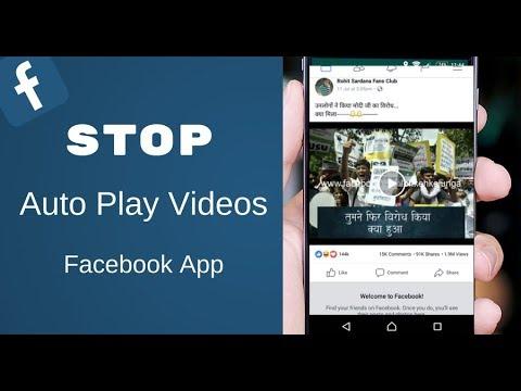 Stop Auto Play Videos on Facebook App