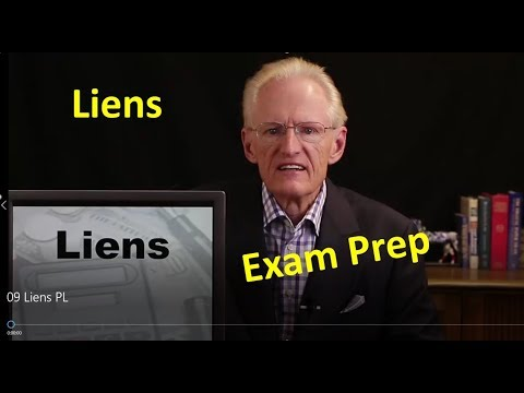 09 Liens: Arizona Real Estate License Exam Prep