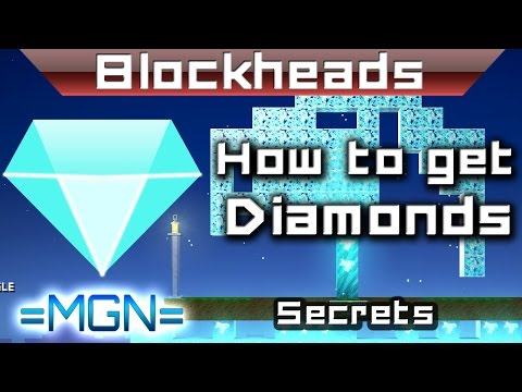 Blockheads - How to find diamonds!