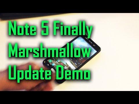 Note 5 Finally Marshmallow Update Demo