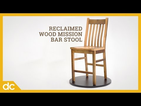 Reclaimed Wood Mission Bar Stool: 100% Authentic Aged Barn Wood