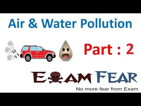 Biology Air Water Pollution Part 2 (Factors Spoiling environment) Class 8  VIII