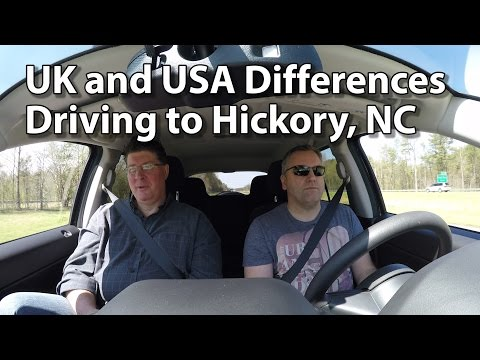 Rich and Tony - UK & USA Differences - Driving to Hickory