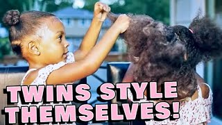 TWINS LEARN TO STYLE EACH OTHER