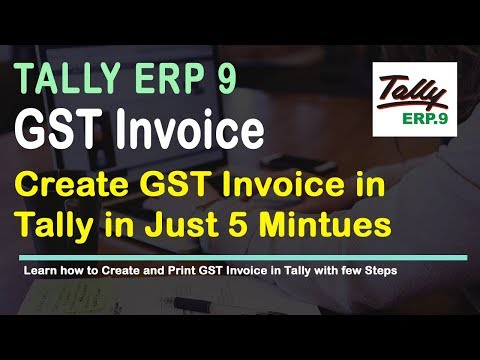 How to Create Sales / Invoice in Tally Release 6 for GST