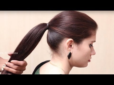 Beautiful Ponytail Hairstyles for Functions or Wedding || Simple ponytail Hairstyle for Long Hair